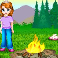 Sofia Cooking Marshmallows