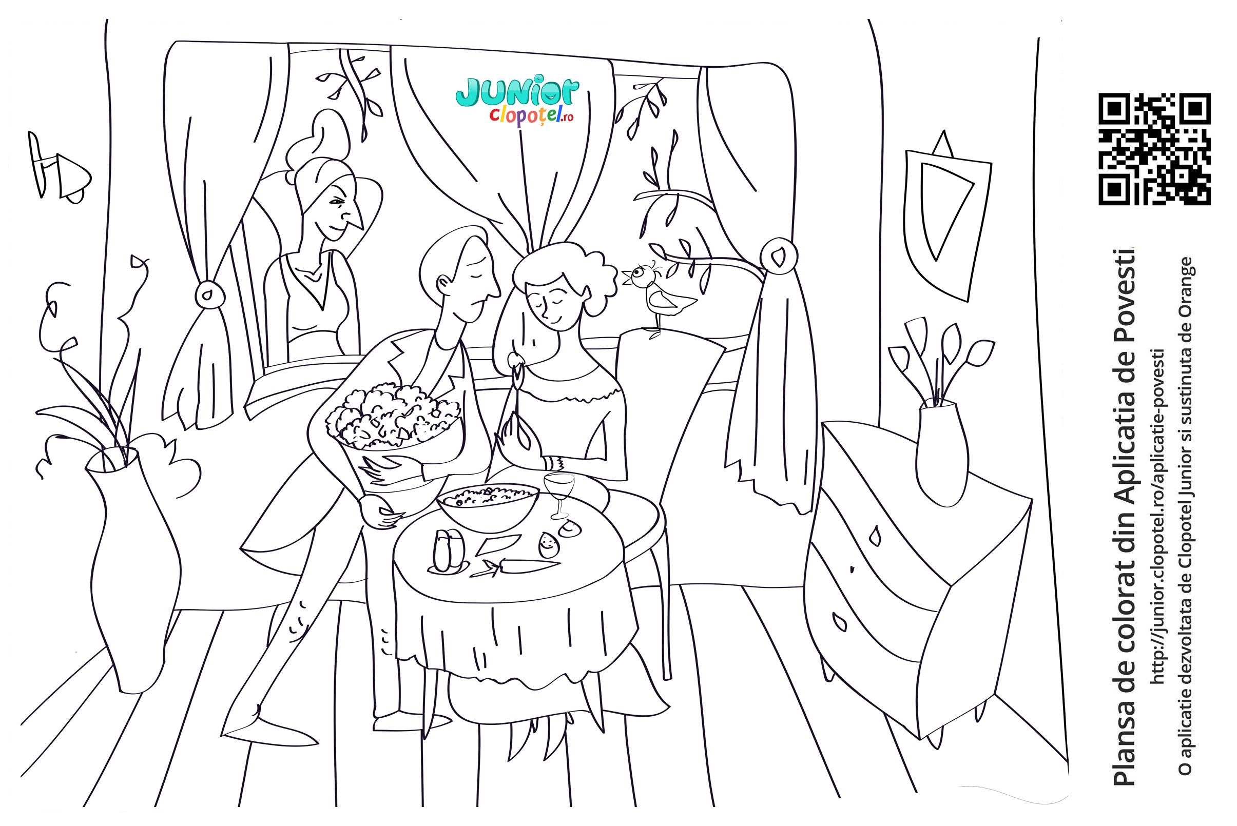 Barbatul ii ofera femeii rapunzel din gradina