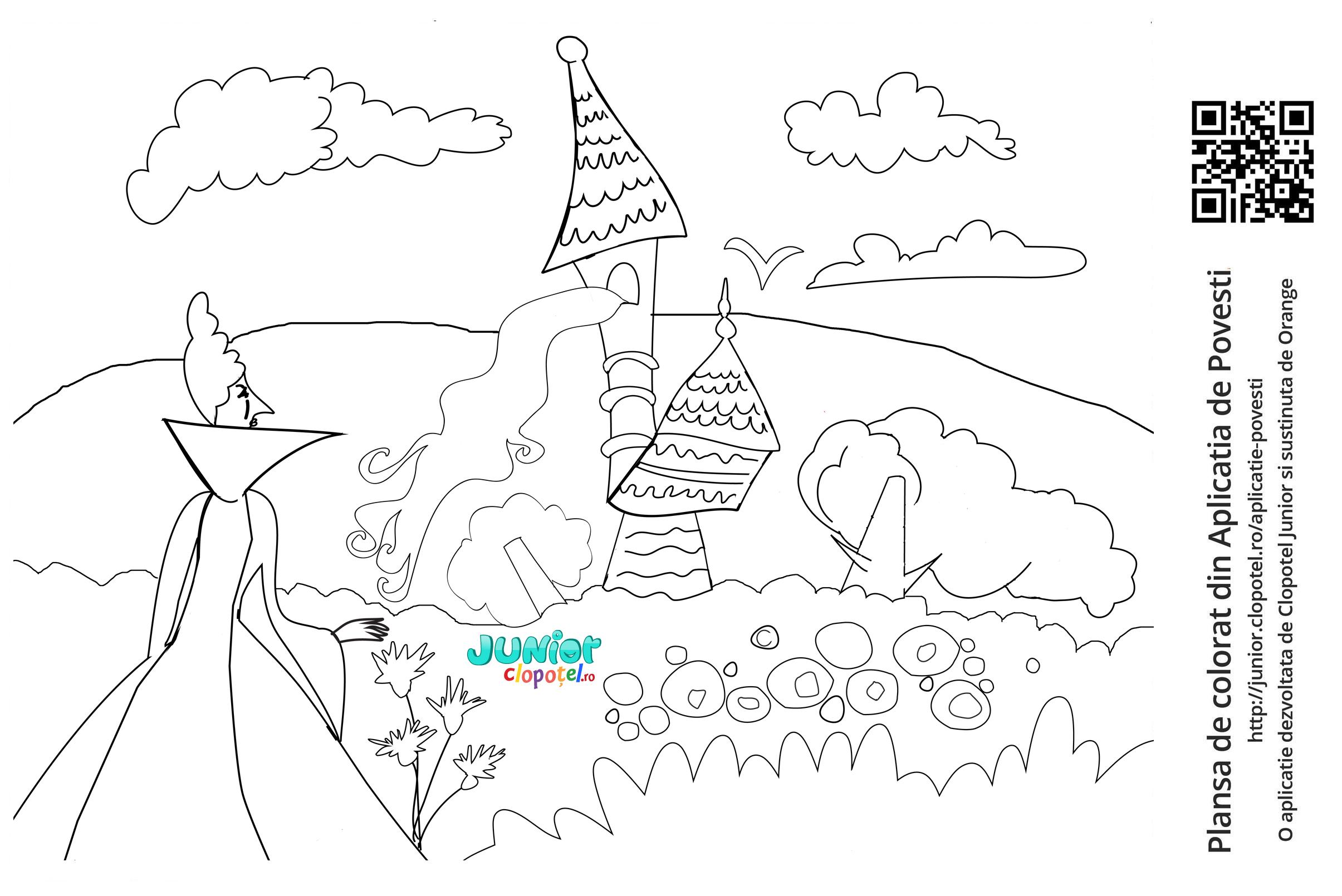 Rapunzel isi scoate parul din turn