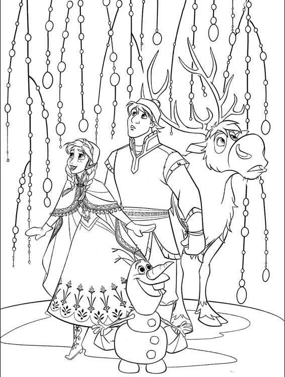 Anna, Kristoff, Sven si Olaf