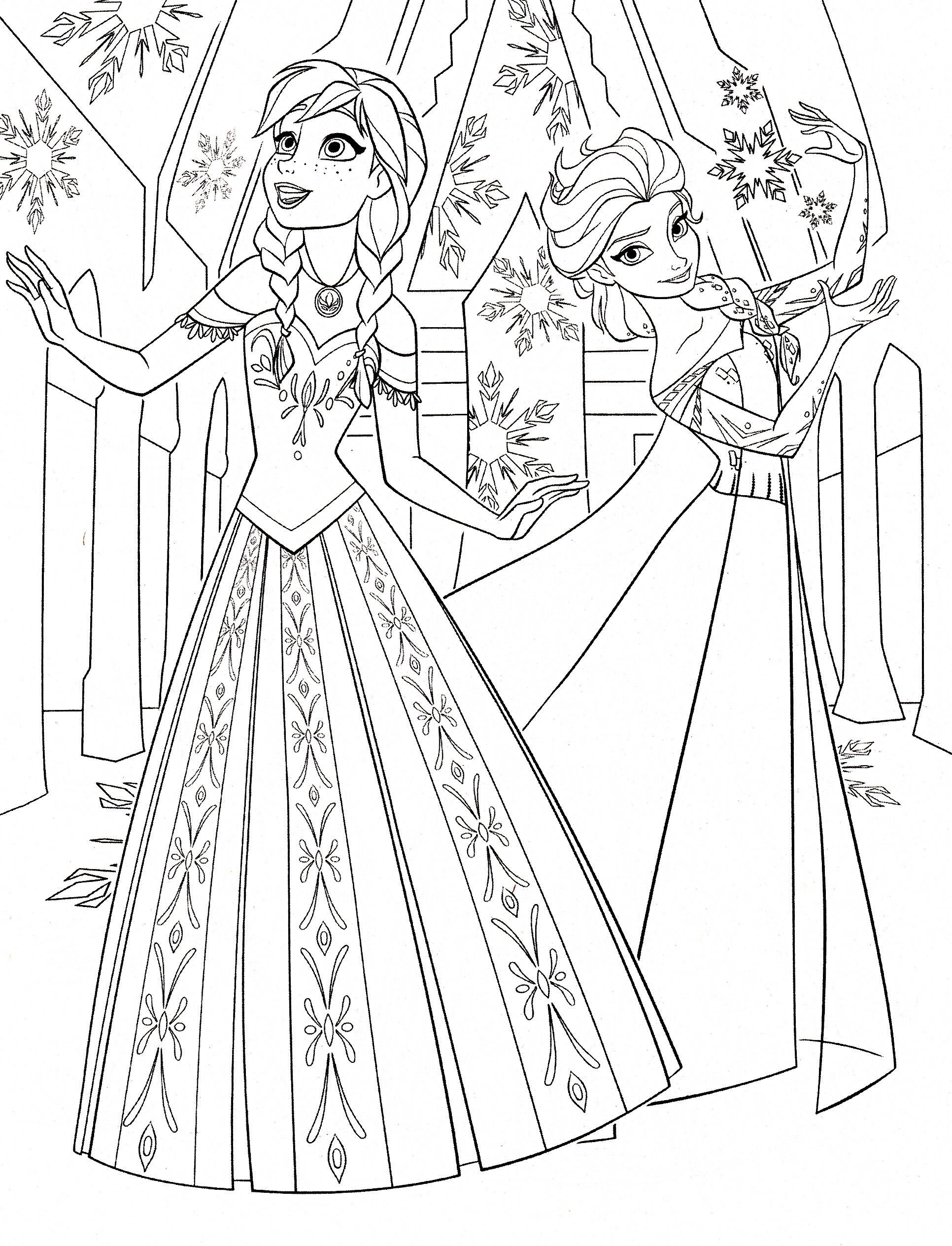 Printesele Anna si Elsa din Frozen
