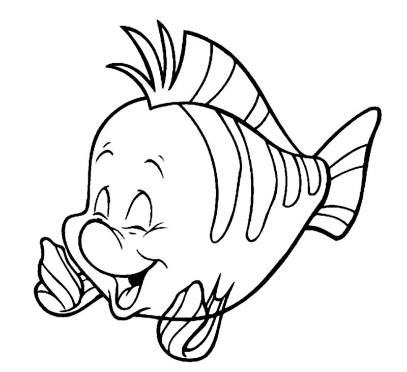 Pestisorul Flounder de colorat