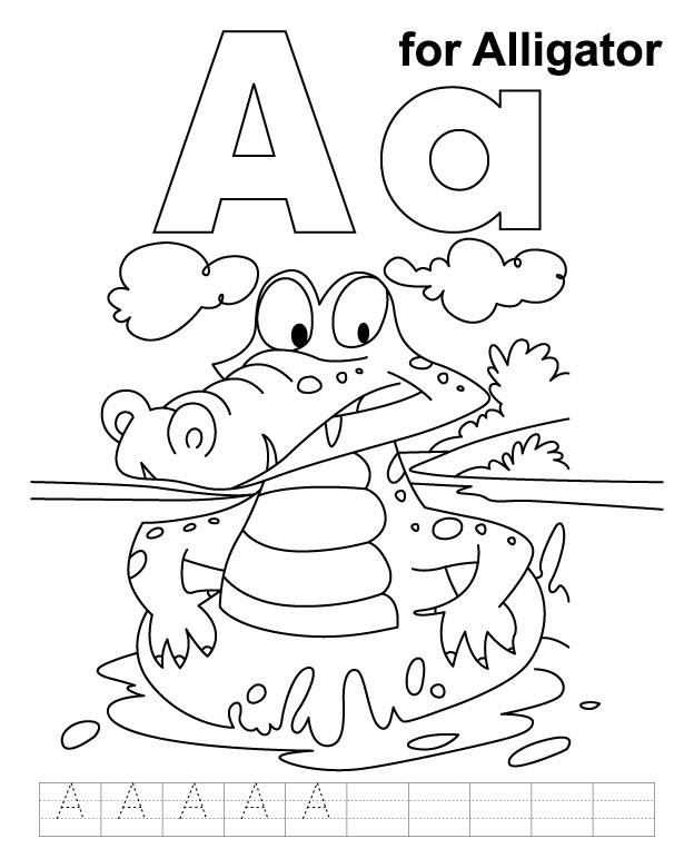 Coloreaza si scrie litera A