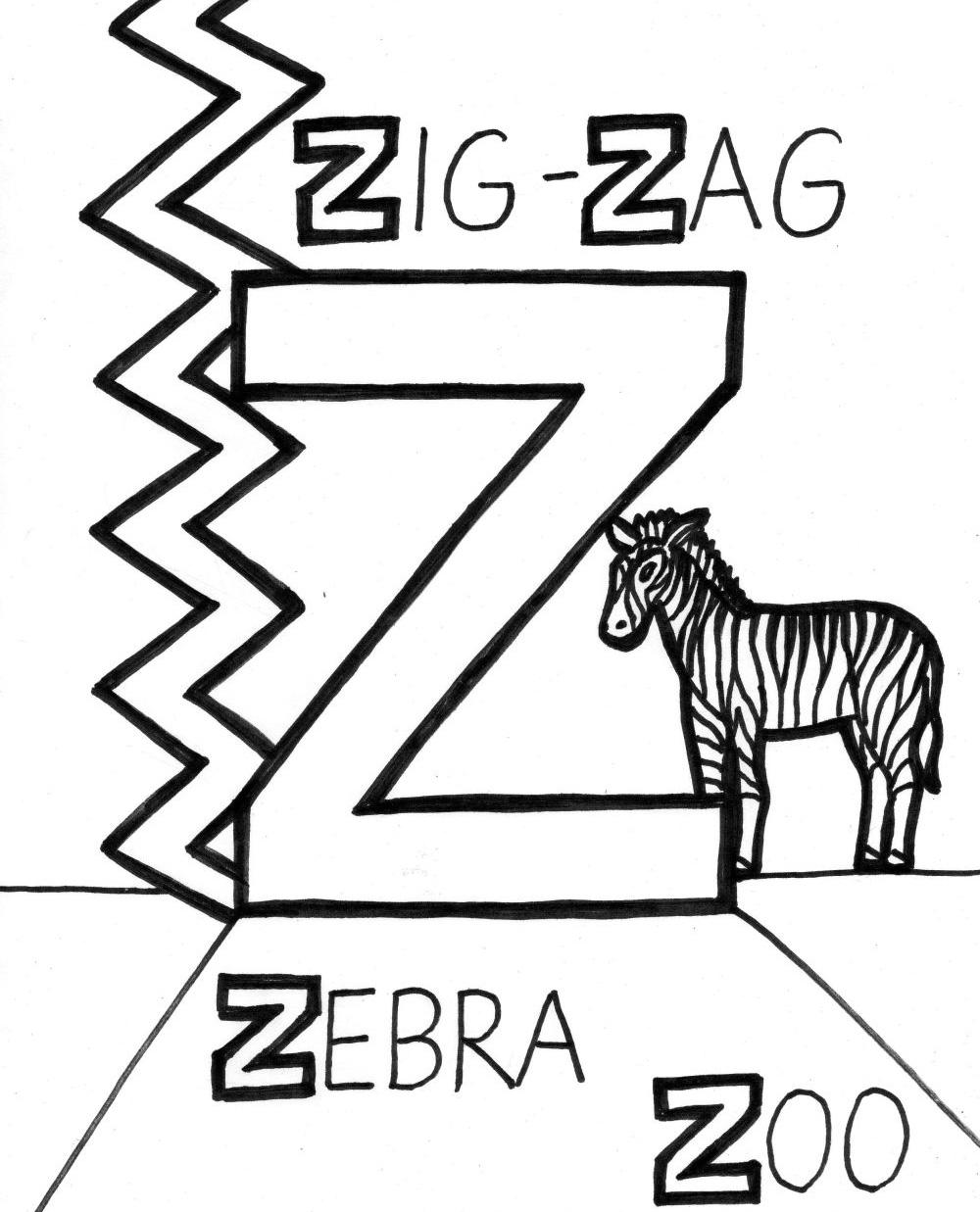 Coloreaza litera Z!
