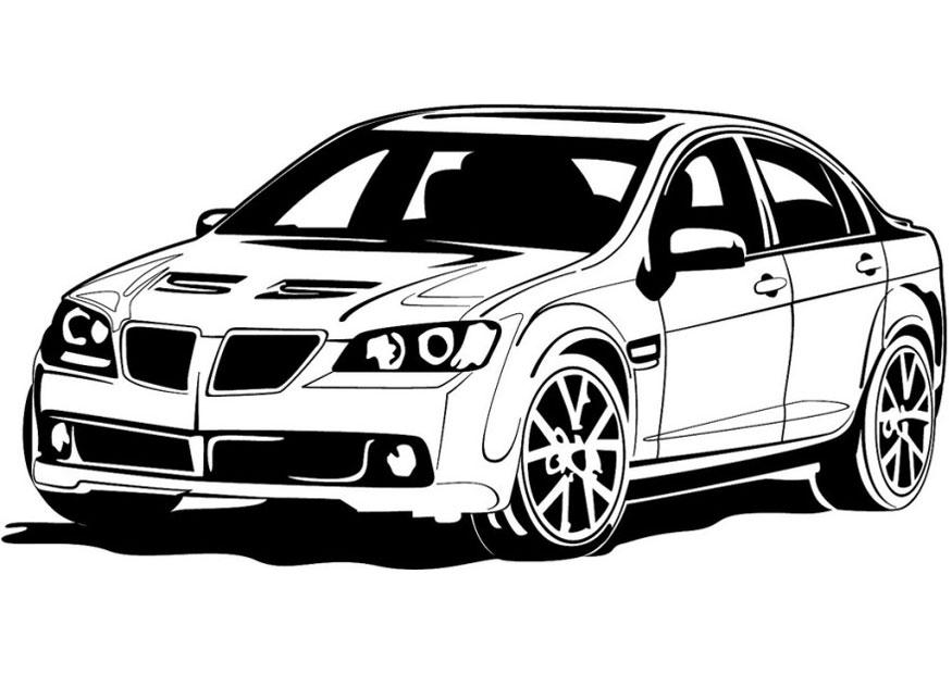 Plansa de colorat cu un BMW