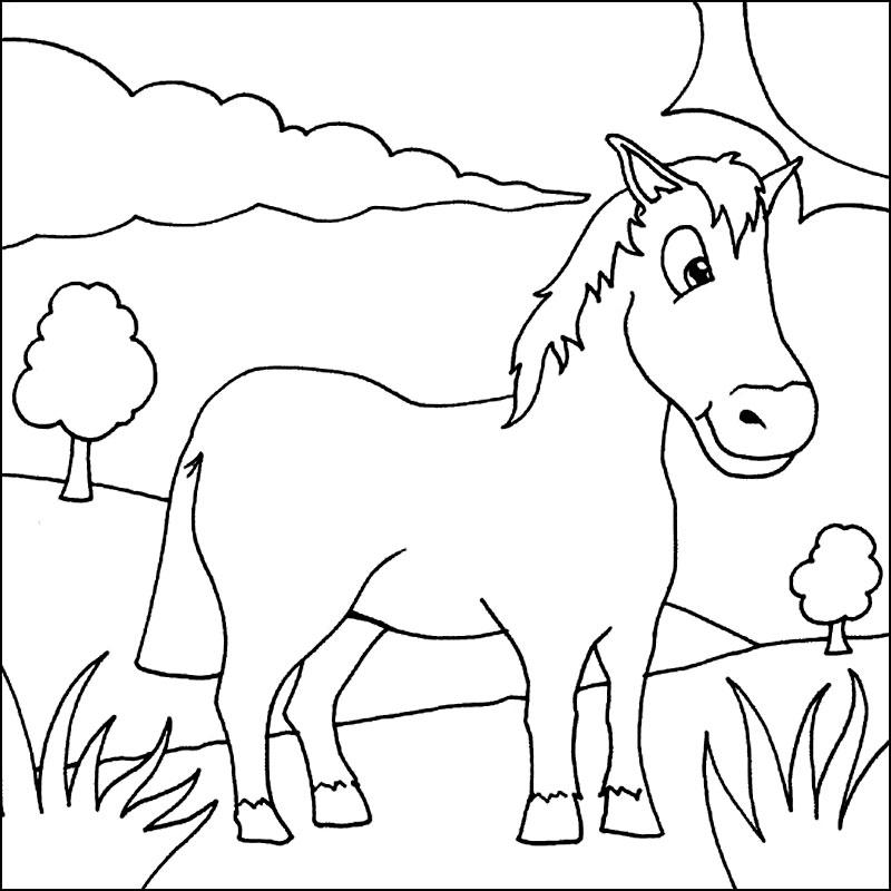 Calul iese din padure