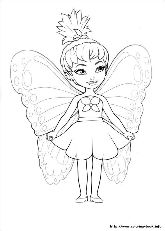 Barbie, fluturele copil