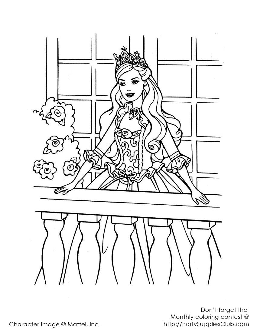 Barbie la balcon