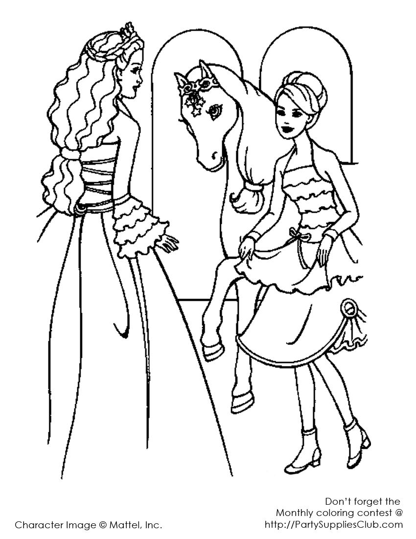 Barbie, poneiul si prietena ei