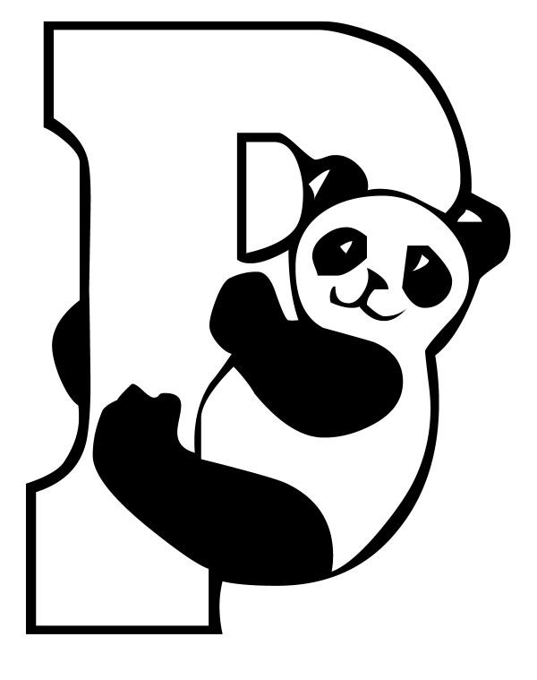 Litera P de la panda