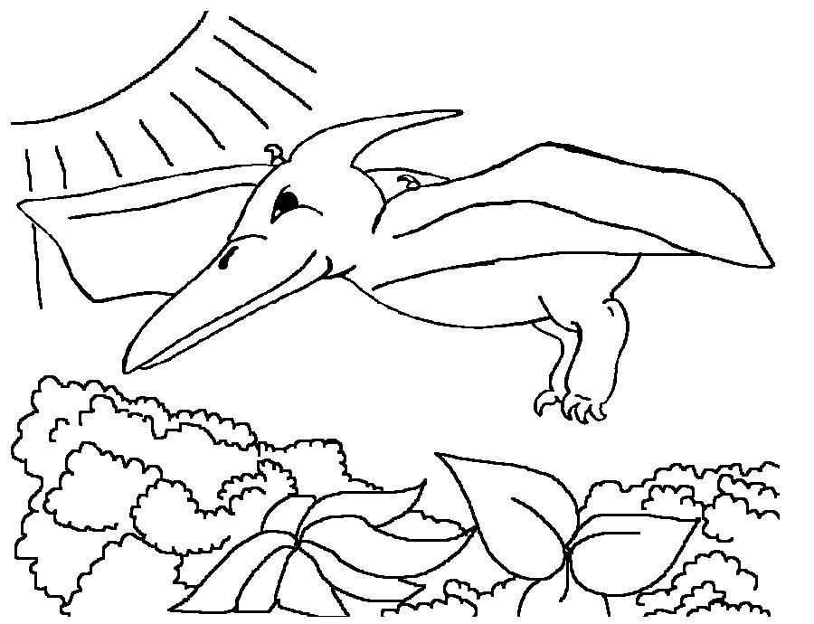 Dinozaur zburator de colorat