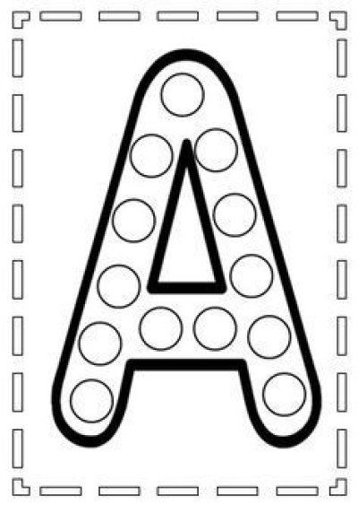 Dot-a-dot cu litera A