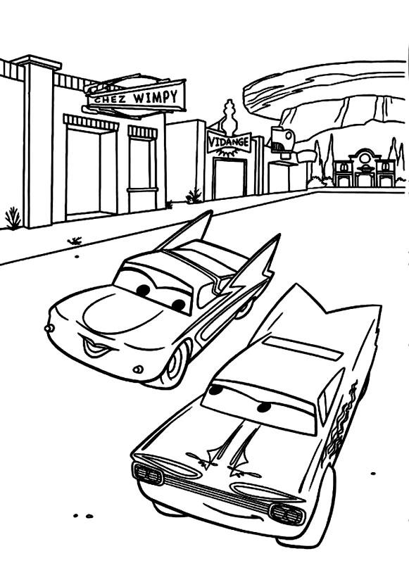 Masinile Flo si Ramone din Cars