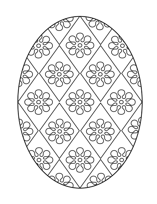 Floricele pe oul de Paste