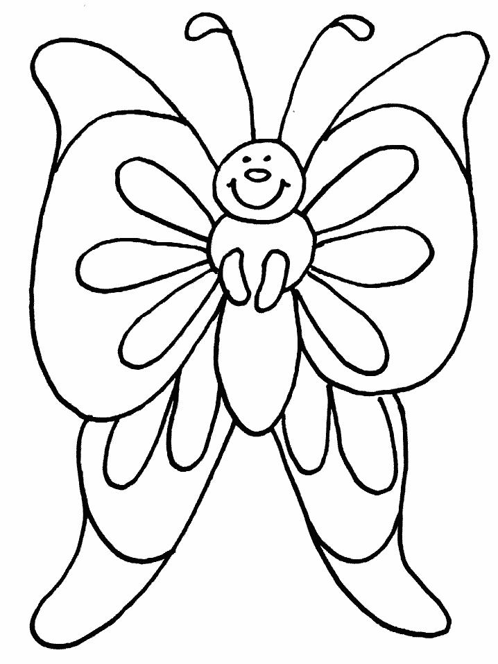 Plansa de colorat cu un fluture