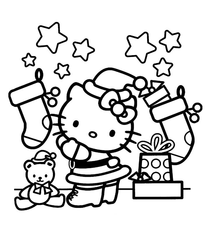 Hello Kitty cu stelute si cadouri