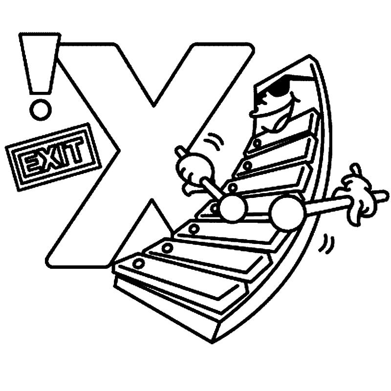 Litera X de colorat