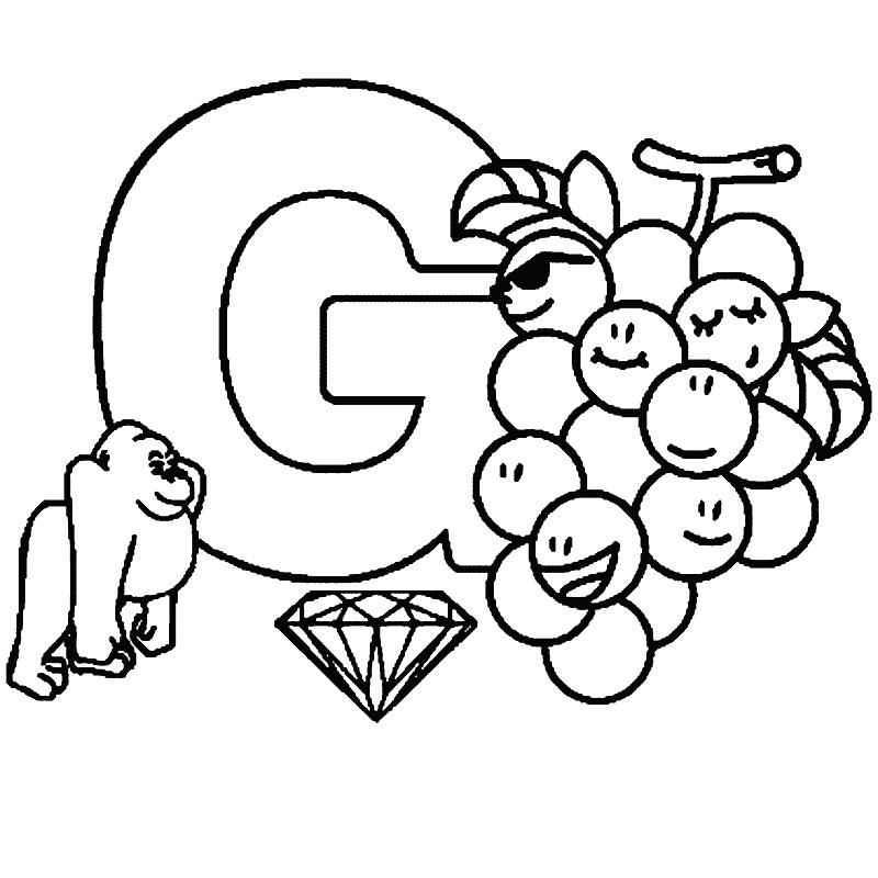 Litera G de colorat