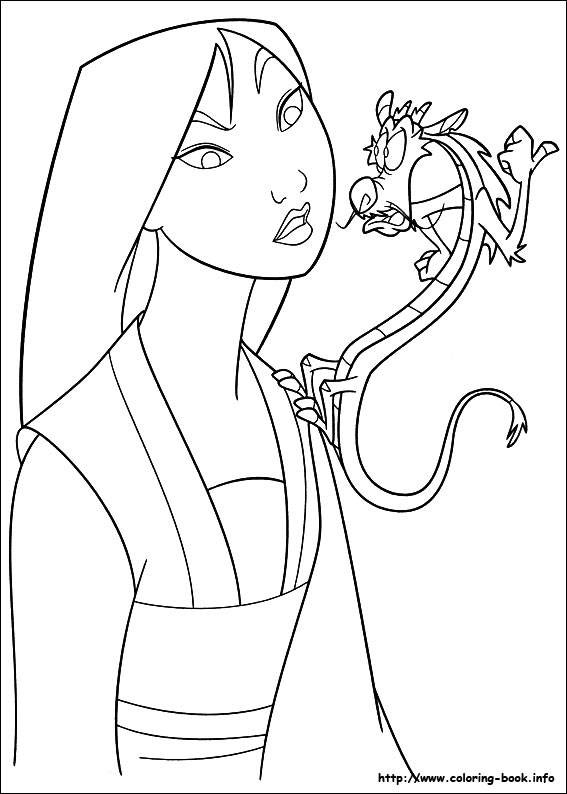 Mulan vorbeste cu Dragonul Mushu