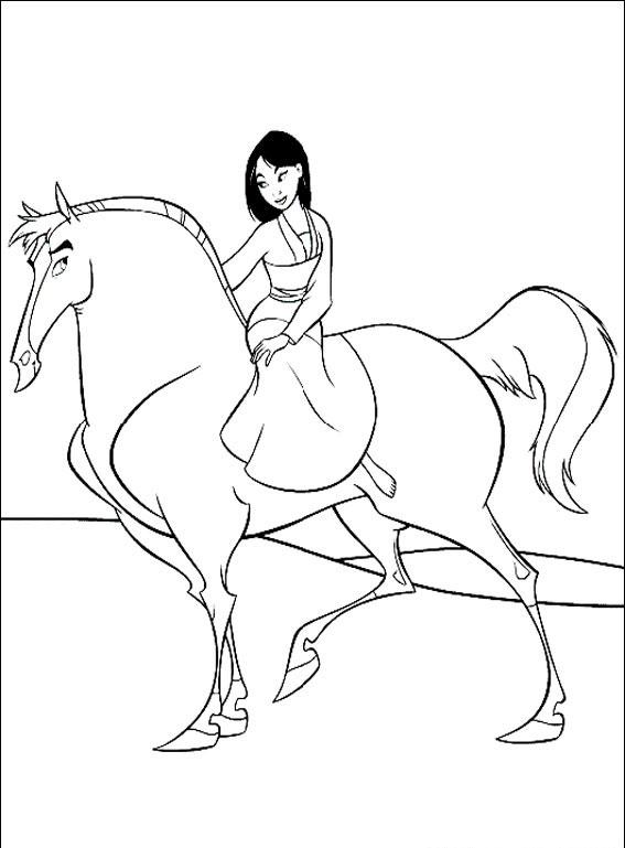 Mulan pe cal