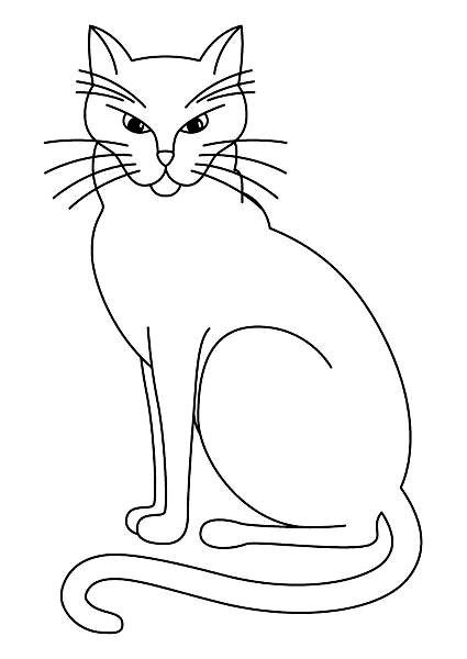 Plansa de colorat cu o pisica