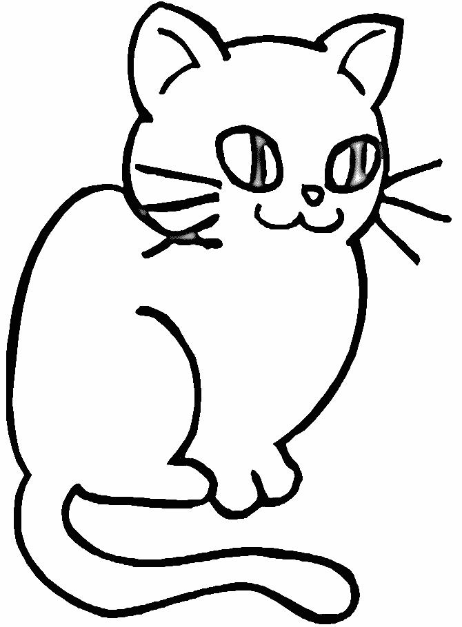 Plansa de colorat cu o pisicuta