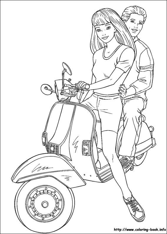 Barbie pe motoreta