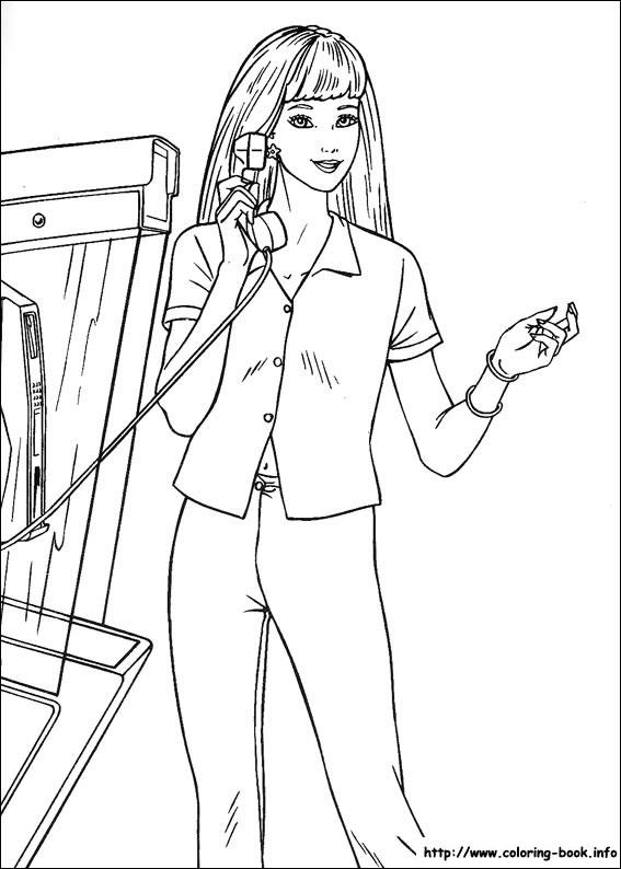 Barbie vorbeste la telefon