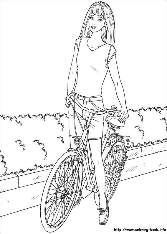 Barbie pe bicicleta
