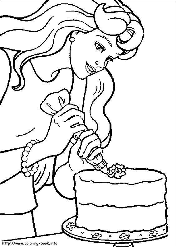 Barbie pregateste un tort