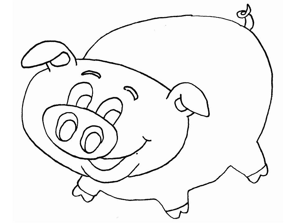 Plansa de colorat cu un porcusor