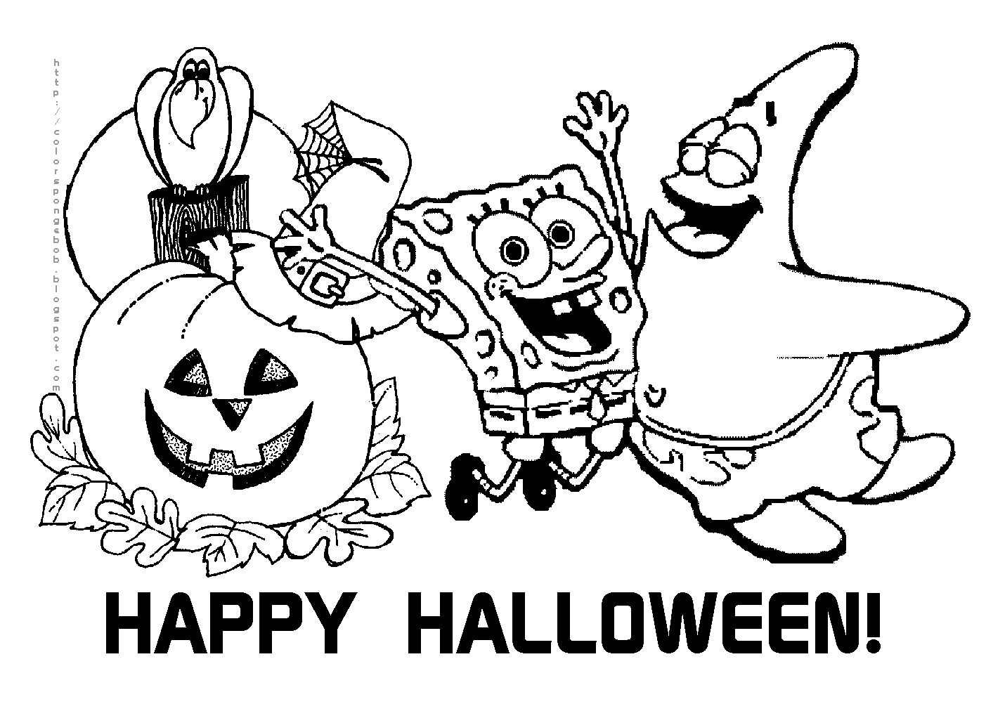 Halloween cu Spongebob si Patrik