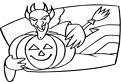 Demon cu dovleac de Halloween