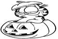 Halloween cu Garfield de colorat