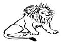Plansa de colorat cu leul african