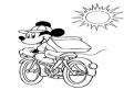 Mickey Mouse pe bicicleta