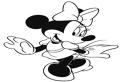 Minnie Mouse cocheta