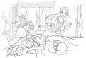 Barbie doarme cu pisica