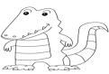 Plansa de colorat cu un crocodil