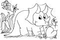 Coloreza dinozaurul triceratops