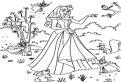 Plansa de colorat cu Frumoasa Adormita