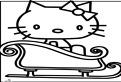 Hello Kitty pe sanie de colorat
