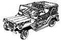Plansa de colorat cu un jeep