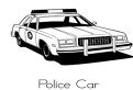 Plansa de colorat cu o masina de politie