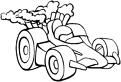 Plansa de colorat cu o masina de Formula 2