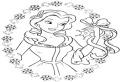 Medalion de Craciun cu printesa Belle