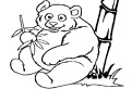 Coloreaza ursul panda