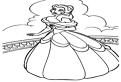Plansa de colorat cu Printesa Belle la bal