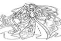 Printesa Anime de colorat