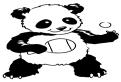 Plansa de colorat cu un urs panda